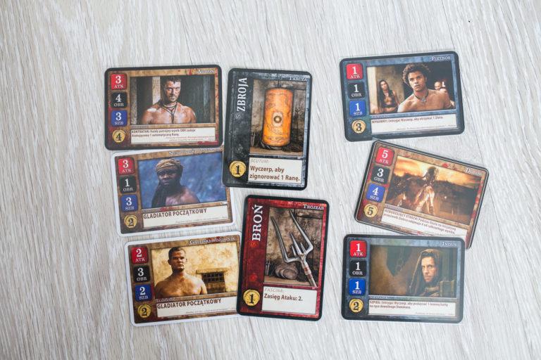 Karty gladiatorów Spartakus